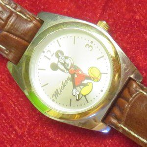 Classic Disney Mickey Mouse Watch Brown Strap